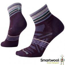 Smart Wool 美國 女 PhD戶外減震印花低筒襪 酒紅 SW001116-590