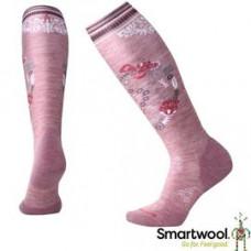 Smart Wool 美國 女 PhD滑雪輕量菁英減震印花高筒襪-玫瑰紅 SW001369-A32
