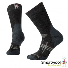 Smart Wool 美國 女 PhD戶外重量級減震中長襪-炭黑/冰河藍 SW001076