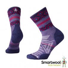 Smart Wool 美國 女 PhD戶外輕量印花中筒襪-薰衣草紫 SW001118-511