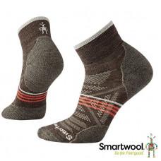 Smart Wool 美國 女 PhD戶外輕量減震低筒襪-灰褐/沙漠紫 SW001307