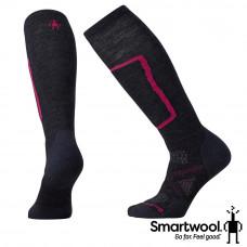 Smart Wool 美國 女 PhD滑雪中極減震高筒襪-炭黑 SW015028-003
