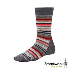 Smart Wool 美國 女 瑪格麗特紋中長襪-中等灰 SW0SW717-052