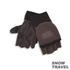 Snow Travel 雪之旅 WINDBLOC 防風保暖半指兩用手套(咖啡色) ST-AR47-BR