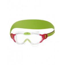 Speedo 童 進階面罩泳鏡 Sea Squad-粉紅 2-6歲適用 SD8087638028