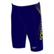 Speedo 男孩 運動及膝泳褲 Sports Logo Panel 藍/黃 SD809531A766