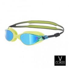 Speedo  V-class 競技鏡面泳鏡 萊姆黃 SD810964B573