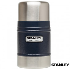 Stanley 經典真空保溫食物杯 0.5L-錘紋藍 1000811-002