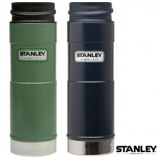Stanley 經典單手保溫咖啡杯 0.47L-錘紋綠/藍 1001394