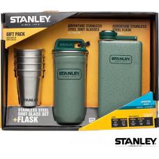 Stanley 冒險系列酒杯組(Flask酒壺 0.24L)-錘紋綠 1001883-001