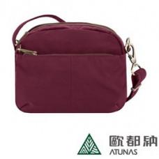 Travelon 美國 Signature 防盜小斜背包-寶石紅 TL-43327-RD
