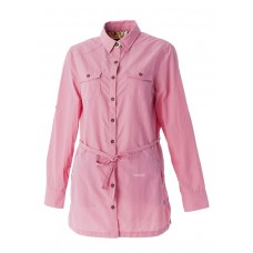 WILDLAND 荒野 女 抗UV時尚長版襯衫-珍珠粉 0A51211-28