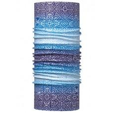 Buff 西班牙 Coolmax 95%防曬抗UV頭巾 藍白禪意 BF113614-707
