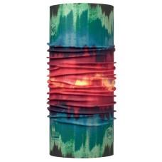 Buff 西班牙 Coolmax 95%防曬抗UV頭巾 紅綠暈染 BF113621-555